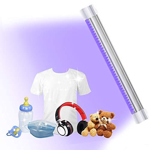 TOAUTO UV Light Cleaner 7W, Portable UV LED Light USB Charging Stick 10400mAh,39 UV+38 LED Lamp Beads for Household Wardrobe Toilet Car Toys Pet Area,6 Operating Mode-Multifunction, US Stock