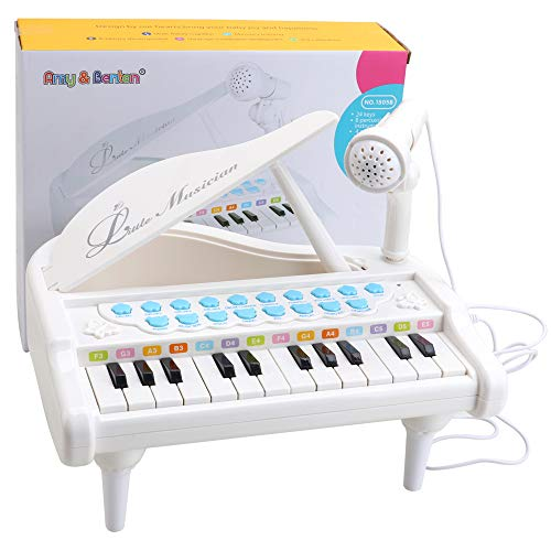 Amy&Benton Toy Piano for Baby Toddler Piano Keyboard Toy 1 2 3 Years Old Girls Kids Birthday Gift Toys