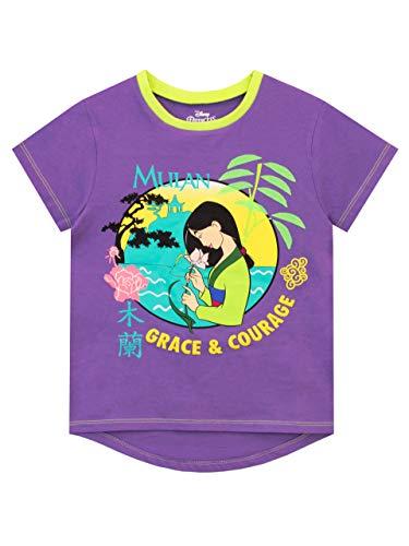 Disney Camiseta de Manga Corta para niñas Mulan Morado 5-6 años