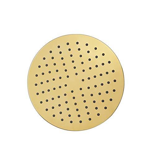 Ducha tipo lluvia ultrafina, 1/2 conexión, cabezal de ducha tipo lluvia, titanio dorado, cabezal de ducha tipo lluvia de alta presión, redondo, 7,9 pulgadas, ABS, cabezales de ducha tipo lluvia grand