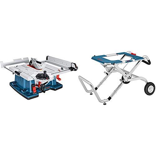 Bosch Professional 0601B30400 Sega a Banco, 2100 W, 3200 giri/minuto, Blu + Bosch Professional 0601B12000 GTA 60 W Banco da Trasporto e da Lavoro