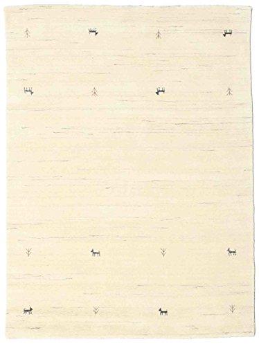 RugVista, Gabbeh Loom Two Lines, Handgemacht, Teppich, Gabbeh, Hochflor, 140 x 200 cm, Rechteckig, Care & FAIR, Wolle, Flur, Schlafzimmer, Küche, Wohnzimmer, Nicht-gerade Weiss