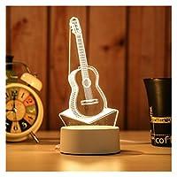 新年の装飾クリエイティブ3D LEDナイトライトテーブルランプ子供寝室クリスマスギフトホーム (色 : Light Yellow)