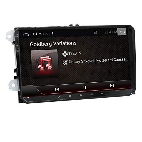 KCSAC 2DIN PX6 Android10 4G Ram Radio Estéreo GPS Navi Fits FOR VW Passat B6 B7 CC Polo Golf 5 6 Touran Jetta Tiguan Magotan Asiento (Color : 4G 64G PX6)