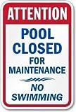 Blechschild Warnschild Attention Pool Closed for
