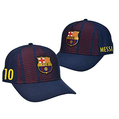 Gorra Oficial FC BARCELONA - Messi 10 + Firma - Tallaje