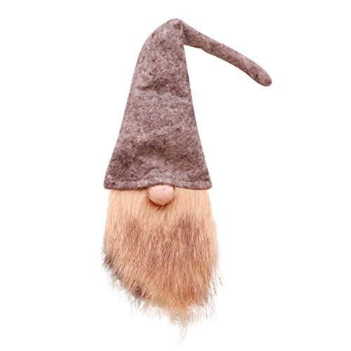 Bornbayb Handmade svedese Gnome Bottle Cover Decorazione natalizia Xmas Table Decor