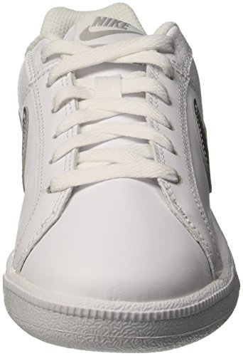 Nike Wmns Court Royale, Zapatillas de Gimnasia Mujer, Blanco (White / Metallic Silver), 36.5 EU