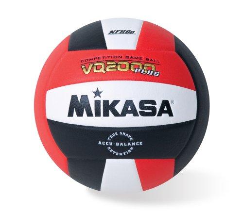 Mikasa VQ2000 Micro Cell Volleyball, Unisex, Mikasa Micro Cell Volleyball (rot/weiß/schwarz), VQ2000-CAN, Rot/Weiß/Schwarz, Einheitsgröße