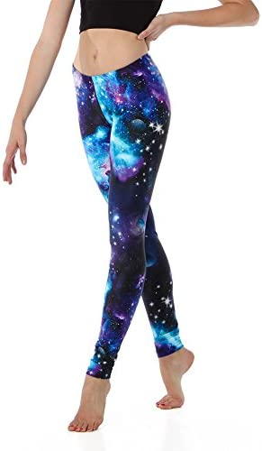 Youth Purple Galaxy Leggings product image