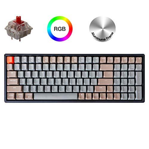 Keychron K4 Wireless Bluetooth/USB Wired Gaming Mechanical Keyboard,...