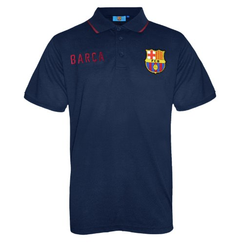 FC Barcelona - Polo oficial para hombre - Con el escudo del club - Azul marino
