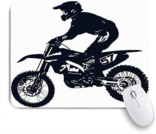 Mobeiti Gaming Mauspad, Motor Race Motocross Sport Freizeit Bike Action aktiver Wettbewerb Cross Dirt Motorrad Sport rutschfeste Gummi Backing Mousepad für Notebooks Computer Mausmatten