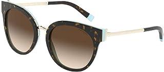 Tiffany TF4168 81343B Havana/Blue TF4168 Round Sunglasses Lens Category 3 Siz
