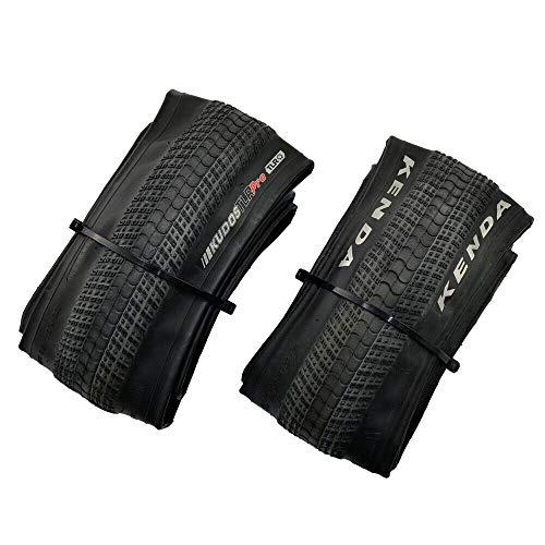 KENDA K1233 Kudos Pro 20x1.75 120TPI Folding SCT Single Tread Tire, Black, 2 Tire, KD2212