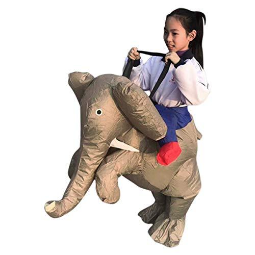 HAOXUAN Disfraz Inflable Paseo En Elefante Disfraz Inflable Adulto Niño Traje Divertido Fiesta De Disfraces Disfraz De Halloween Cosplay,M