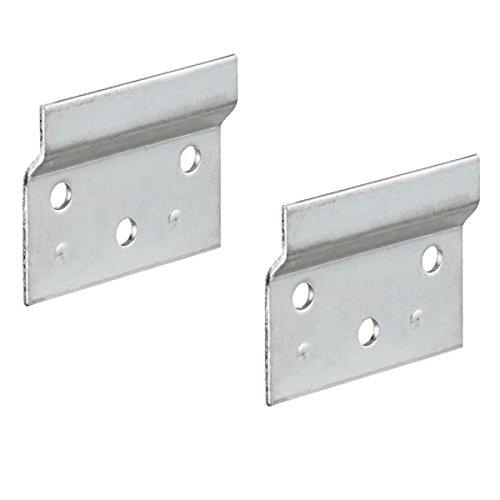 Gedotec Trägerplatte Metall Aufhängeschiene zum Schrauben für Schrankaufhänger | Länge 60 mm | Wandschiene für Schrank-Halterung | Stahl verzinkt | 2 Stück - Wand-Befestigung für Hänge-Schränke