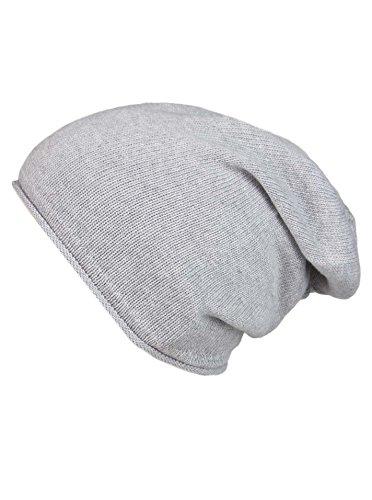 Cashmere Dreams Slouch-Beanie-Mütze mit Kaschmir - Hochwertige Strickmütze für Damen Mädchen Jungen - Hat - Unisex - One Size - warm und weich im Sommer Herbst und Winter Zwillingsherz (HGR)