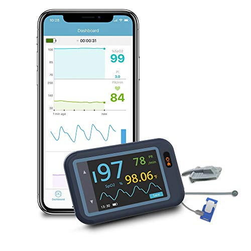 Wellue Smart Health Monitor, Wireless Pulse Meter for SP-02 PR and Body...