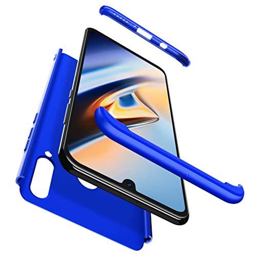 Qsdd Sostituzione per Custodia Huawei P30 Lite Design 3 in 1 TPU Caso Paraurti Rigida per PC Antiurto Antigraffio Siliconea Cover- Blu