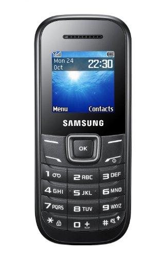 Samsung E1200 Handy (3,9 cm (1,52 Zoll) Display, Dual-Band, Worterkennung) black [EU-Version]