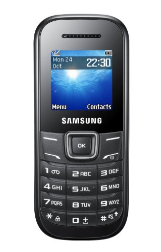 Samsung E1200 Handy (3,9 cm (1,52 Zoll) Display, Dual-Band, Worterkennung) black [EU-Version]