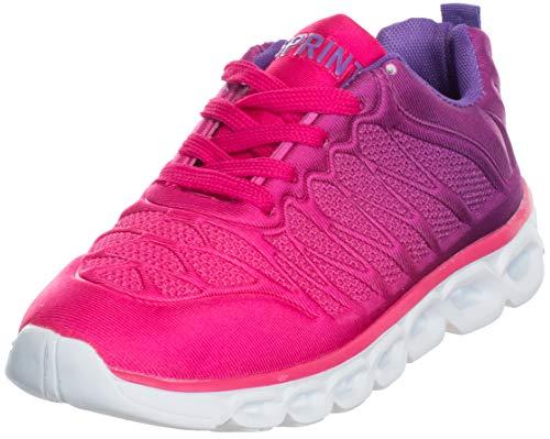 Brandsseller Trendiger Damen Laufschuh Sneaker Schnür Sport Fitness Turnschuh (39, Pink-Lila)