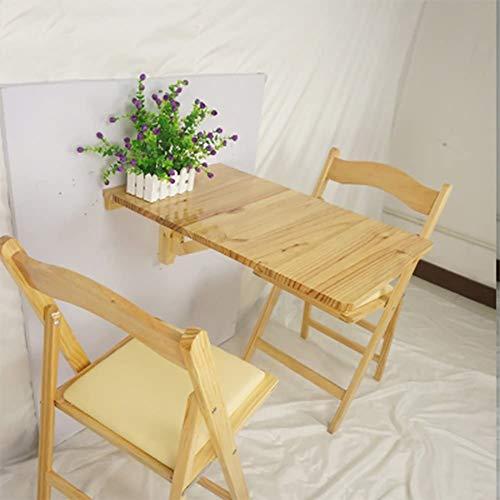 Mesa plegable, for trabajo pesado montado en la pared de alas abatibles Cocina Comedor escritorio, mesa de escritorio del ordenador portátil for niños estaciones de trabajo escritorio de madera mesa p