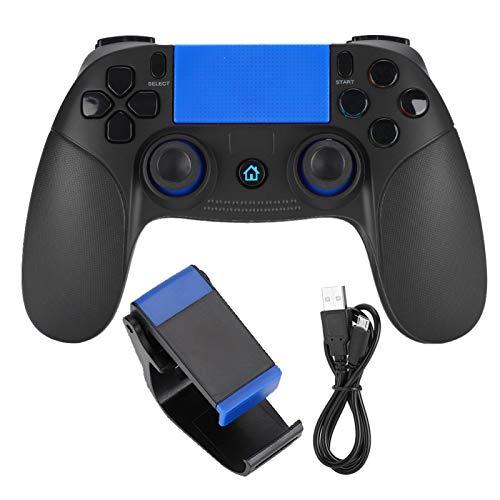 Controlador de Juegos inalámbrico Conexión Directa Bluetooth Gamepad Conexión Directa Bluetooth Controlador de Juegos inalámbrico Gamepad para Android/iOS(Caja de Color Negro + Azul +)