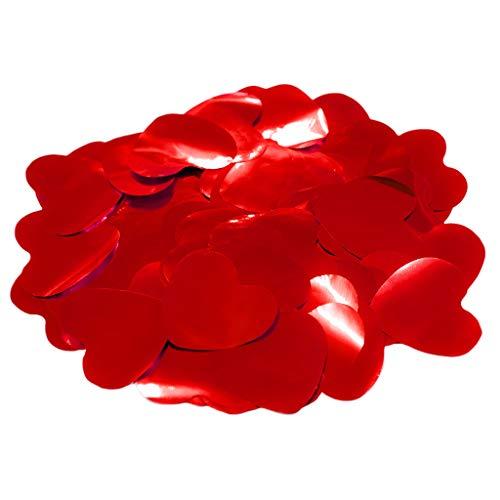 Confeti Corazones Brillo 4,2 cm. | Bolsa 100 gr. (Rojo) | #Amor