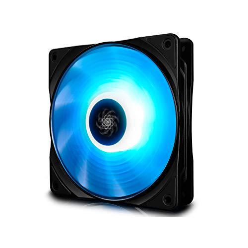 DEEP COOL RF120 Ventola RGB 120mm, PWM Ventola Silenzioso ad Alte Prestazioni, Controllabile da Controller, 12V 4pin RGB