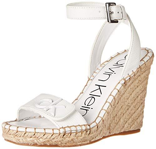 Calvin Klein Women's Karla Platform, White Leather, 7