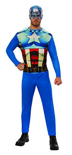Marvel - Disfraz de Capitan América para hombre, Talla M adulto (Rubie's 820955-M)