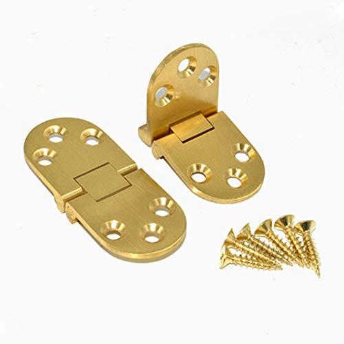 Scharnier 180 Grad Kupfer Leder Faltung eignet Sich for Klapptisch/Rundtisch/Wohnung/versteckt/Schranktür/Scharnier/Schrank/Schrank (Color : 2mm Thickness Board)
