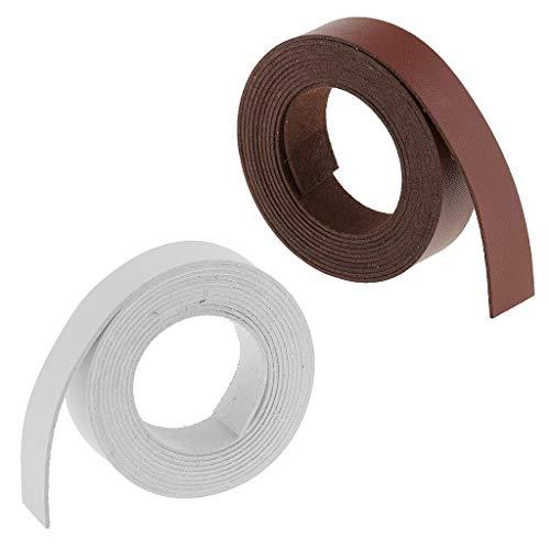 F Fityle Correa de Microfibra para Manualidades de Cuero de 2 Rollos, Cuero de PU para Accesorios de Ropa de Bricolaje - 2 Metros, 20 Mm