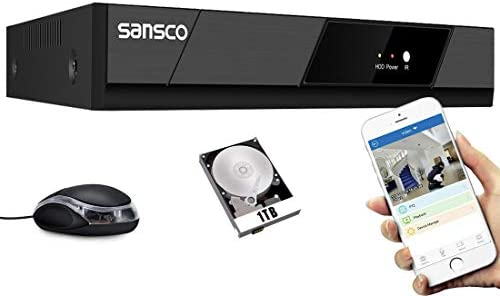 SANSCO 1080P 8 Channel CCTV Security DVR Standalone Recorder Easy Remote Access Motion Detection product image