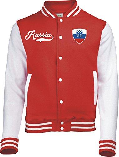 Aprom-Sports Russland College Jacke - Retro - ROT -1- (XL)