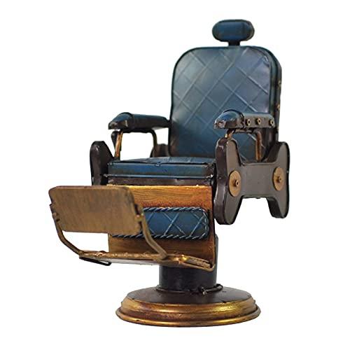MagiDeal Silla Vintage Modelo artesanía Americana barbería Silla Retro Escritorio decoración Amigos para la Oficina café y Bar decoración Ornamentos