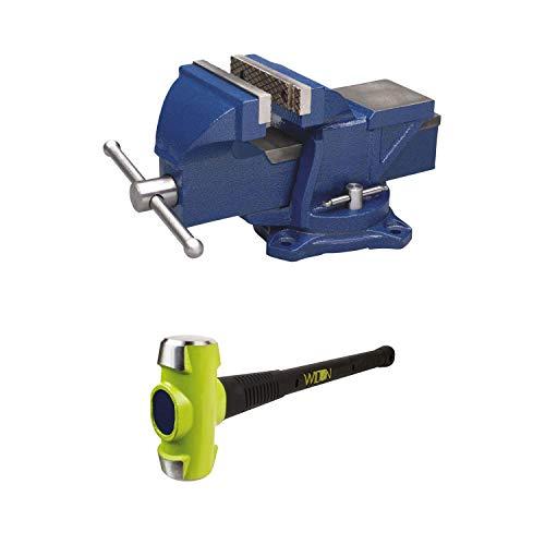 Wilton 4 Inch Anvil Work Bench Vise + Sledge Hammer with 10 Pound Head