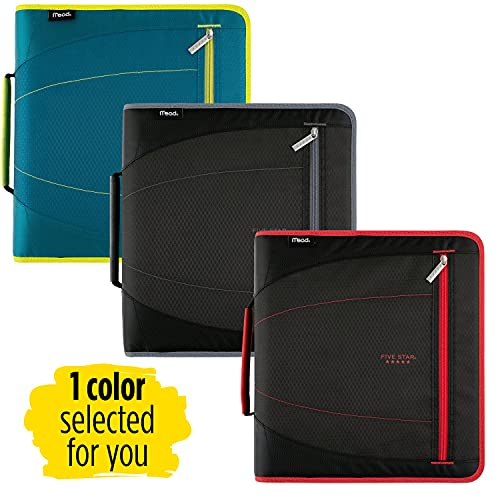 Five Star Zipper Binder, 2 Inch 3 Ring Binder, Removable File Folders, Durable, Color Selected For You, 1 Count (29036) Photo #3