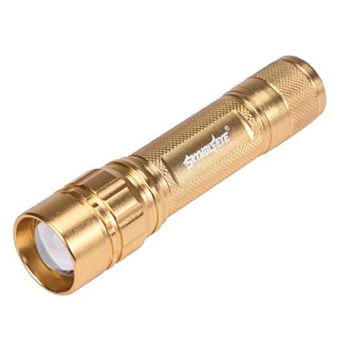 Hilaï mise au point 3000 Lumens 3 modes CREE XML T6 LED 18650 Lampe de poche lampe torche puissante (Gold)