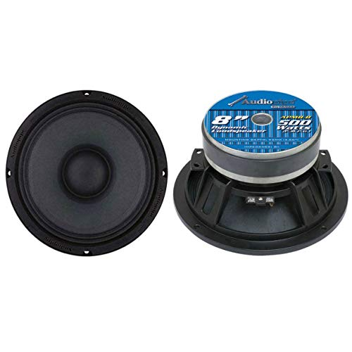 Audiopipe APMB-8 8 Inch 1000W 8 Ohm Low Mid Bass Frequency Car Audio Loudspeaker with 2 Inch TIL Voice Coil (2 Pack)