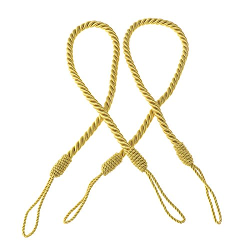 2tlg Raffhalter Seilhalter Gardinen Vorhang Deko Kordel Gold