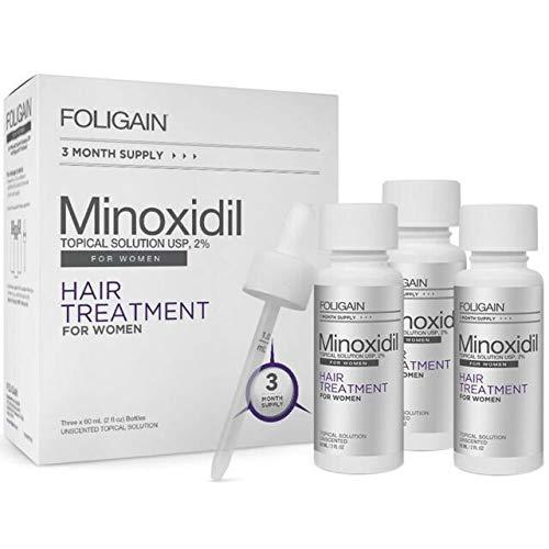 Foligain Minoxidil 2% Haar Hergroei Behandeling Voor Vrouwen 3 Maanden