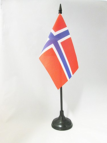 AZ FLAG TISCHFLAGGE NORWEGEN 15x10cm - NORWEGISCHE TISCHFAHNE 10 x 15 cm - flaggen