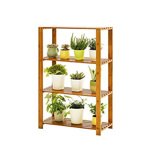 Support de fleurs Bamboo Landing Multi-layer Rack de succulentes intérieur Rack de pot de balcon Etagère de salon Longueur: 50cm / 65cm (taille : 50cm)