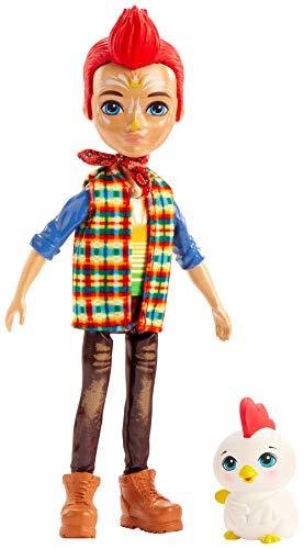 Enchantimals GJX39 - Redward Rooster Puppe und Tierfreund Figur Cluck, Spielzeug ab 4 Jahren
