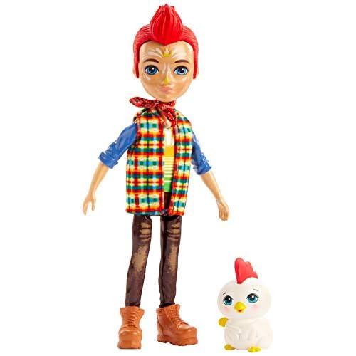 Enchantimals Redward il Gallo e Cluck, Bambola di 15cm con Accessori, Giocattolo per Bambini 4+ Anni,GJX39