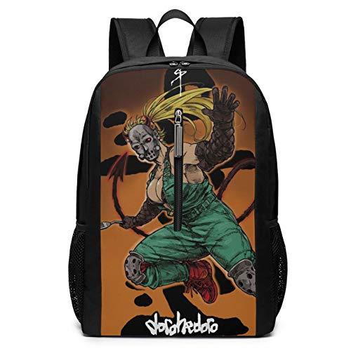 Dorohedoro Laptop Backpacks for Women Men 17 Inch Large Travel Cool College Black Schoolbag