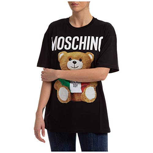 Moschino Damen T-Shirt Teddy Bear Nero XS